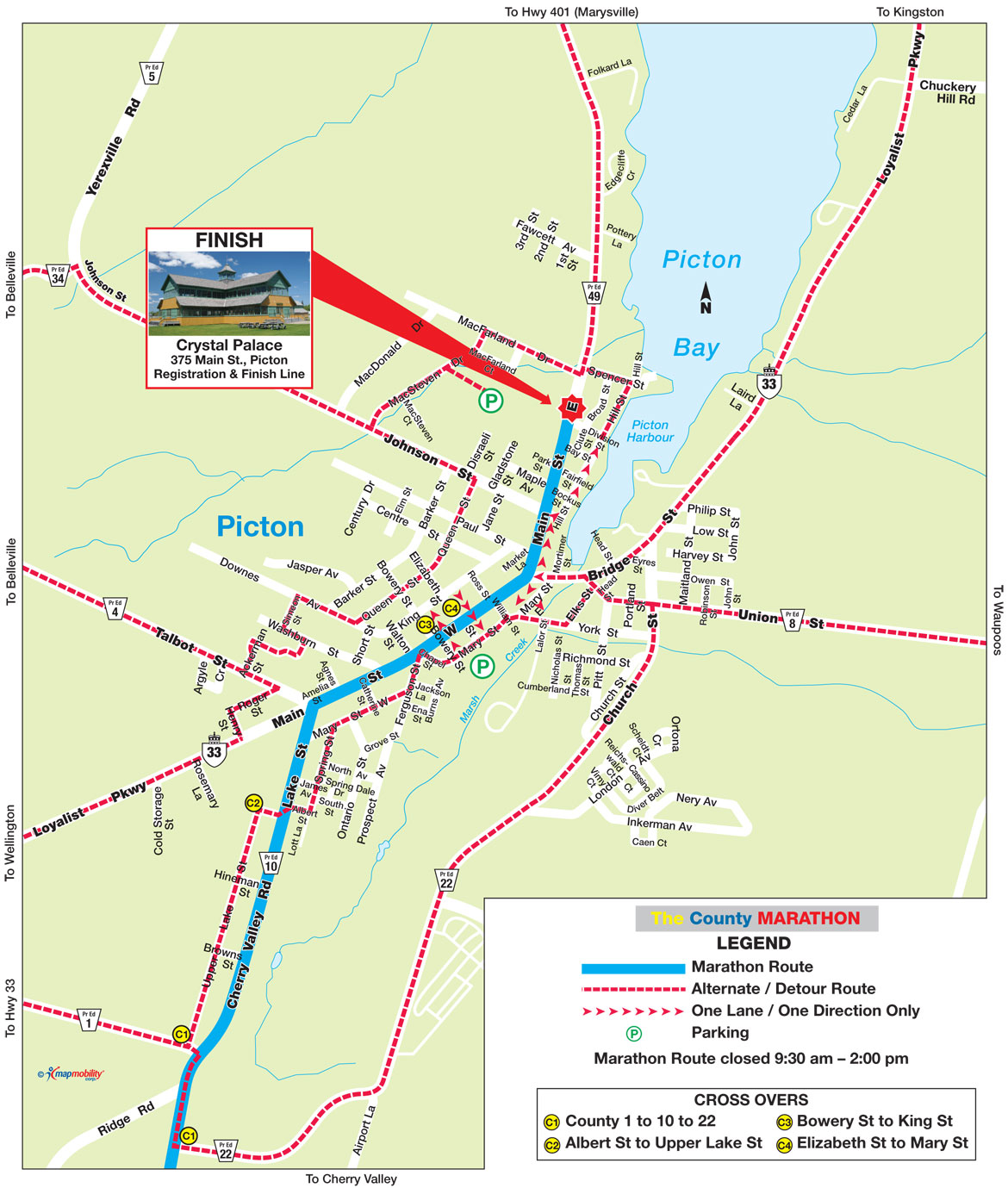 The County Marathon - Course Map